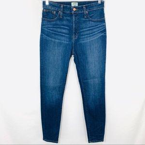 J. Crew Curvy toothpick skinny jeans Dryden wash